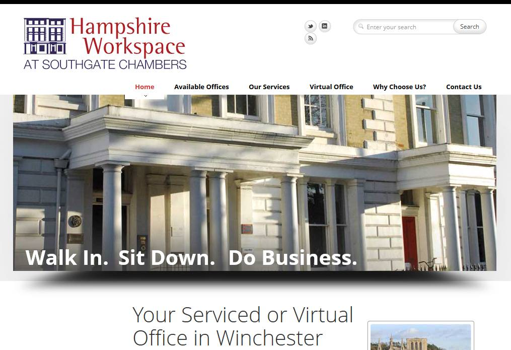 Hmpshire Workspace website designed by The Lewis Experience