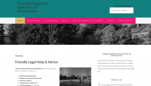 Thomas Simpson Solicitors website