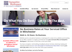 Hampshire Workspace website image