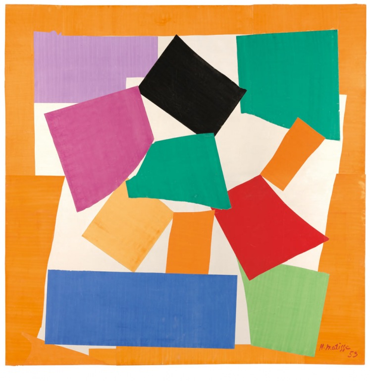 The Snail, a cutout by Matisse